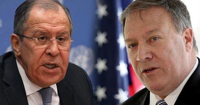 Pompeo, Lavrov ile telefonda görüştü