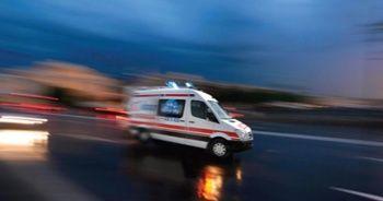 Kazaya bakarken bariyerlere çarptı: 8 yaralı
