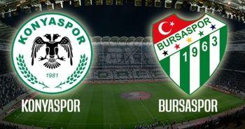 Konyaspor 1 - 1 Bursaspor Maçı kaç kaç? Konyaspor - Bursaspor maçı Özet izle
