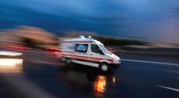 Otomobil ineğe çarptı: 3 yaralı