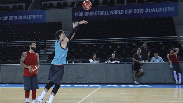 A Milli Erkek Basketbol Takımı, Karadağ maçına hazır