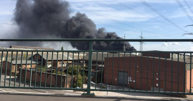Almanya'da korkutan yangın