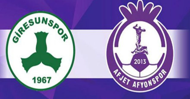 Giresunspor-Afjet Afyonspor Maçı geniş özeti golleri izle! Giresunspor-Afjet Afyonspor maçı kaç kaç bitti?