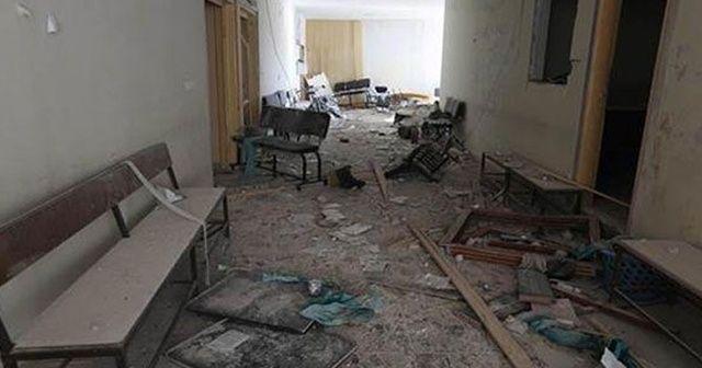 İdlib'de hastaneye varil bombalı saldırı!