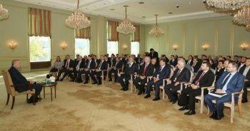 Erdoğan, Berlin'de Türk sivil toplum kuruluşlarının temsilcileriyle görüştü