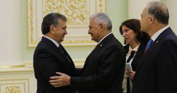 Mirziyoyev, TBMM Başkanı Yıldırım'ı kabul etti