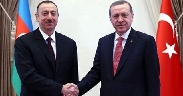 Aliyev'den Cumhurbaşkanı Erdoğan'a kutlama mesajı
