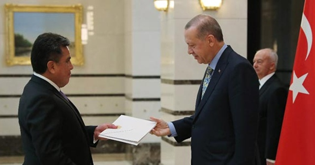 Cumhurbaşkanı Erdoğan 4 büyükelçiyi kabul etti
