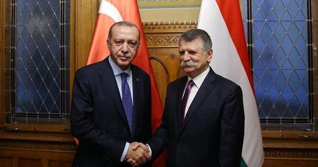 Cumhurbaşkanı Erdoğan, Macaristan Meclis Başkanı Köver ile görüştü