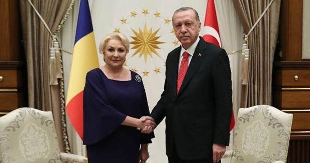 Cumhurbaşkanı Erdoğan, Romanya Başbakanı Viorica Dancila'yı kabul etti