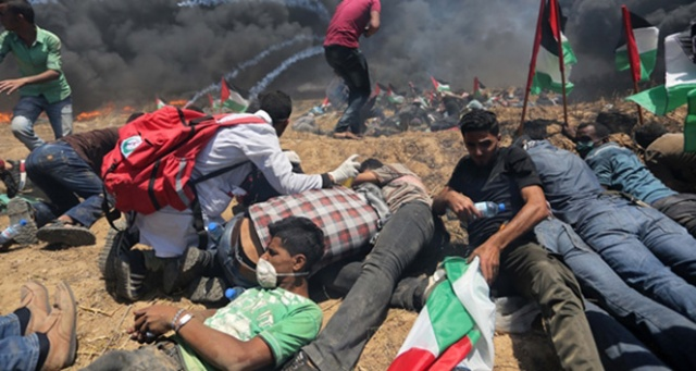 İsrail güçleri Gazze sınırında 7 Filistinliyi yaraladı