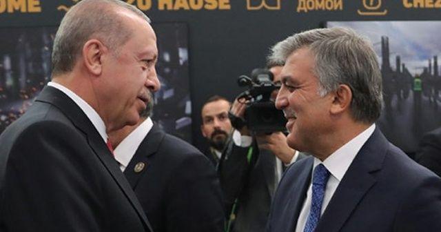 İşte o an! Cumhurbaşkanı Erdoğan ve Gül...