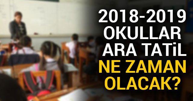 Okullar ara tatil Ne Zaman 2019 |Ara Tatil Ne Zaman 2019