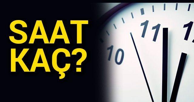 Saatler Geri Mi Alındı şu An Saat Kaç Telefon Ve Bilgisayar Tarih