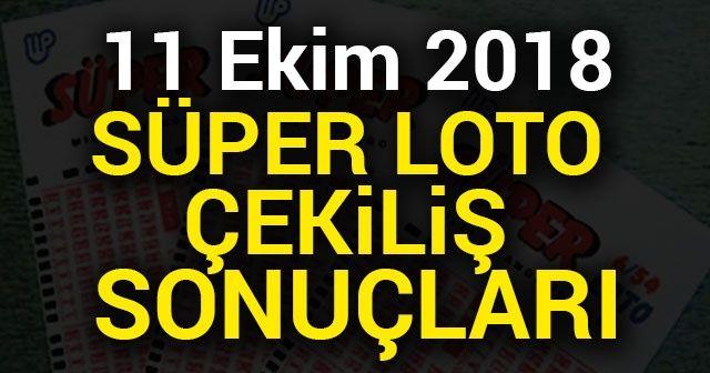 SÜPER LOTO ÇEKİLİŞ SONUÇLARI Bilet Sorgulama MPİ 11 Ekim 2018 | Süper Loto 11 Ekim sonuçları