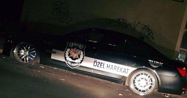 Üzerinde 'Özel Harekat' yazan araç Almanya'yı karıştırdı