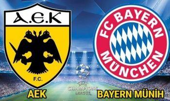 AEK Atina Bayern Münih maçı CANLI İzle! AEK Bayern Münih maçını Şifresiz Veren Kanallar Hangileri? AEK Bayern Maçı izle
