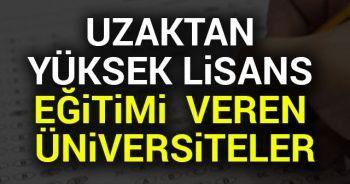Uzaktan Yüksek Lisans Eğitimi Veren Üniversiteler Hangileri 2018-2019