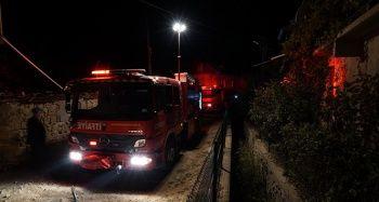 Yaşlı çiftin bulunduğu evde yangın: 1 ölü, 1 yaralı