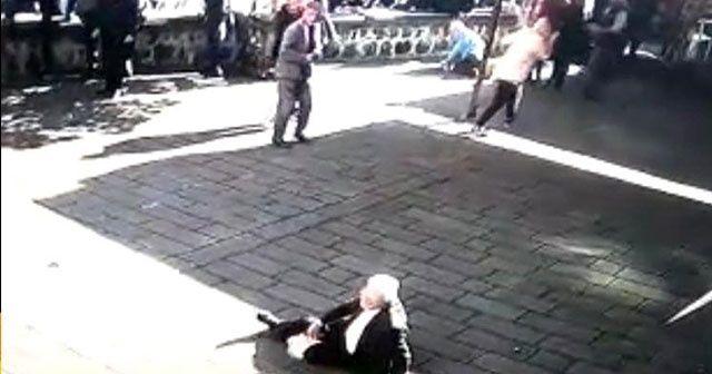 Cami avlusundaki infaz anbean güvenlik kamerasına yansıdı