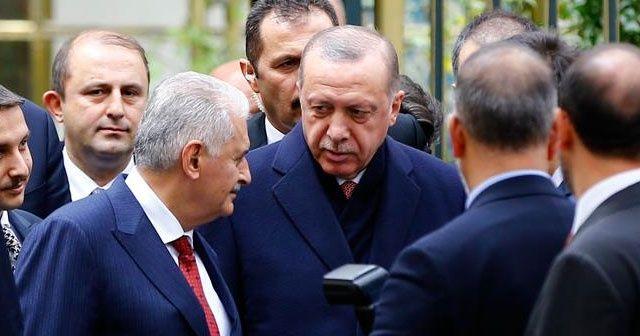 Erdoğan, Binali Yıldırım ile bir araya geldi
