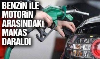 Benzin ile motorin arasındaki makas daraldı
