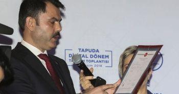 Çevre ve Şehircilik Bakanı Murat Kurum açıkladı! Yeni tapular geliyor...