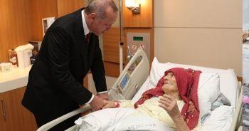 Cumhurbaşkanı Erdoğan, 100 yaşındaki Nazmiye Balcı'yı ziyaret etti