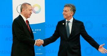 Cumhurbaşkanı Erdoğan, Arjantin Devlet Başkanı tarafından karşılandı