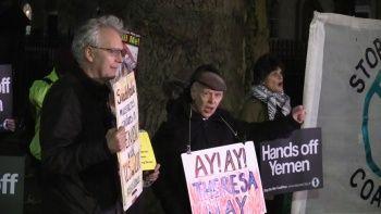 Londra'da Suudi Arabistan protestosu