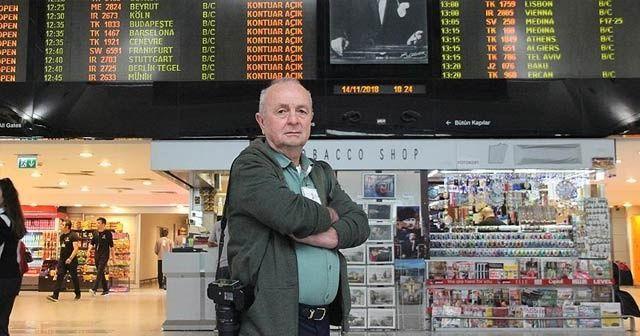 Arkadaşının yerine geldiği havalimanında 40 yılı devirdi