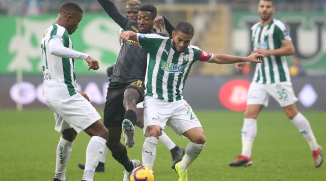 Bursaspor - Evkur Yeni Malatyaspor: 1-1