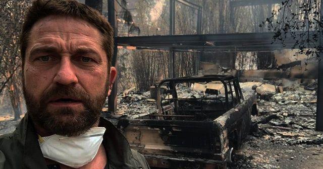 Evi yanan Hollywood aktörüne Filistin hatırlatması