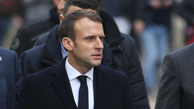 Fransa Cumhurbaşkanı Macron protesto edildi