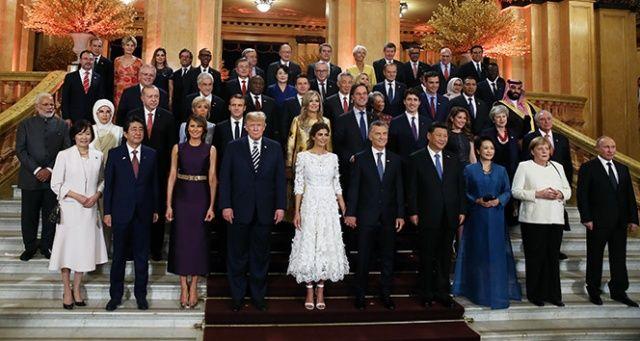 G20 liderleri yemekte buluştu