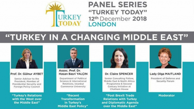 Londra'da Türkiye paneli: Değişen Ortadoğu'da Türkiye