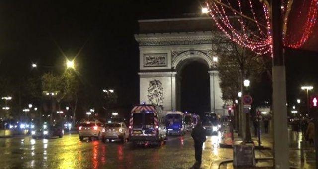 Paris'te eylemciler evlerine döndü, Şanzelize'de sükûnet hâkim