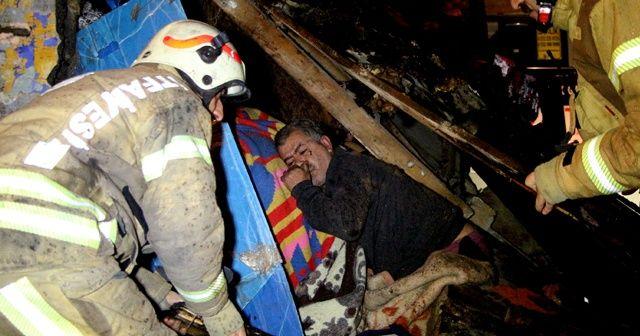 Şişli'de gecekondunun çatısı çöktü