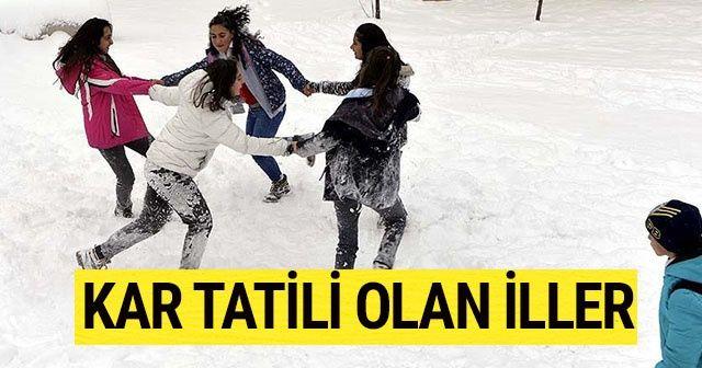 SonDakika: Yarın okullar tatil mi? Hangi illerde okullar tatil edildi? | 20 Aralık Perşembe kar tatili olan iller hangileri?