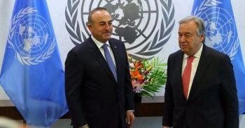 Bakan Çavuşoğlu BM Genel Sekreteri ile görüştü