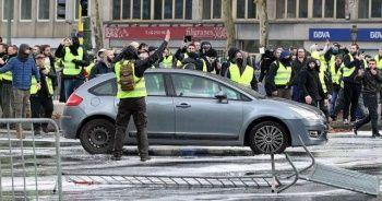 Belçika'da 'sarı yelekliler'in protestosu başladı