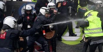 Belçika'da orantısız şiddet