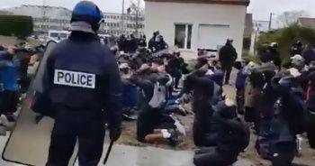 Fransa'da yüzlerce öğrenciye kelepçeli gözaltı