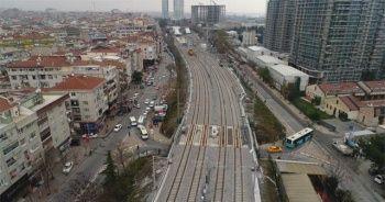 Gebze-Halkalı tren hattında son durum havadan görüntülendi