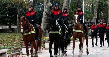 İstanbul Emniyeti'nin kadın süvarileri ilk devriyede