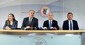 Kılıçdaroğlu, Tabipler Birliği'ne destek ziyaretinde bulundu