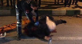 Metrelerce sürüklenen motosiklet sürücüsü hayatını kaybetti