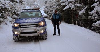 Ordu'da fırtına yerini kar yağışına bıraktı