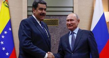 Putin ile görüşen Maduro: 'Ayağa kalktık ve zafer kazanacağız'