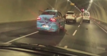 Son dakika: Avrasya Tüneli'nde kaza!
